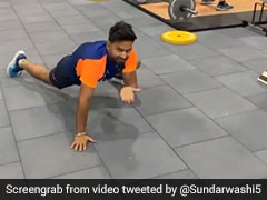 "Watch: Rishabh Pant Does ""Spiderman"" Workout Ahead Of Third Test Against England"