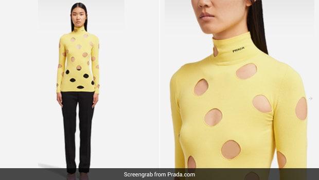 Bizarre! Prada's New Yellow Sweater Is Reminding Twitter Of Swiss Cheese