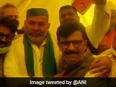 "Shiv Sena's Sanjay Raut Meets Ghazipur Farmers Today ""At Uddhav Thackeray's Behest"""