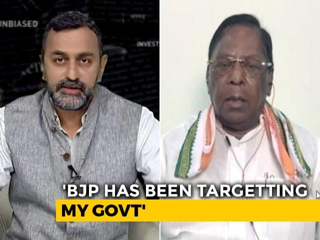 Video : MLAs Threatened, Have Proof: V Narayanasamy To NDTV On Puducherry Crisis