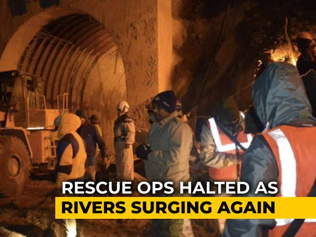 Video : Uttarakhand Tunnel Rescue Work Resumes After Temporary Halt As River Surges