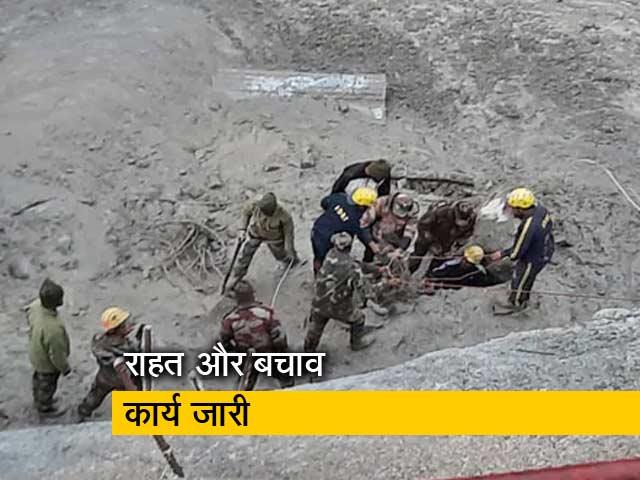 Video : उत्तराखंड बाढ़ : टनल में फंसे मजदूरों को निकालने की कोशिशें जारी