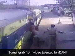 Watch: Railway Cop Saves Differently-Abled Man From Falling Under Train