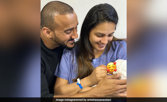 'New Mommy' Anita Hassanandani Shares First Pic Of Baby Boy