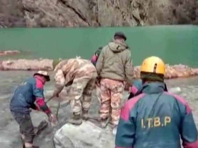 Video : ITBP Removes Obstacles From Lake Formed In Uttarakhand