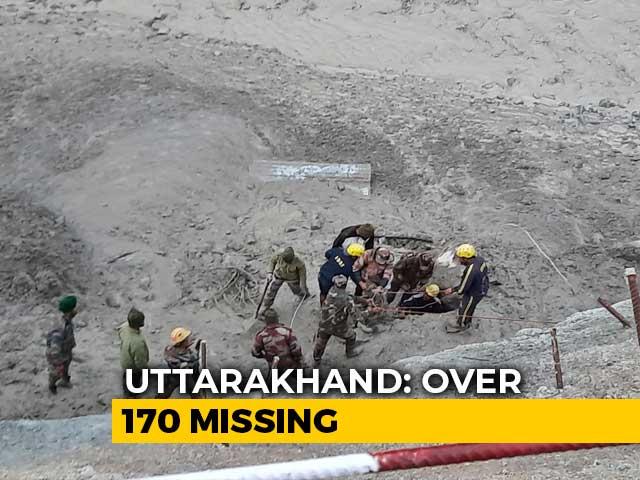 Video : Huge Flood As Uttarakhand Glacier Breaks, 14 Dead, 170 Missing