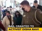 "Video : ""Scanty, Sketchy Evidence"": Disha Ravi Walks Out Of Jail"