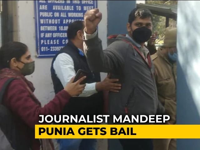 Video : Journalist Mandeep Punia, Arrested From Farmers' Protest Site, Gets Bail