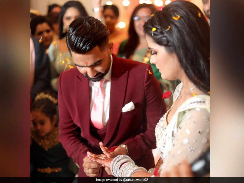 Rajasthan Royals All-Rounder Rahul Tewatia Gets Engaged, Shares Pictures With Fiancee - NDTVSports.com
