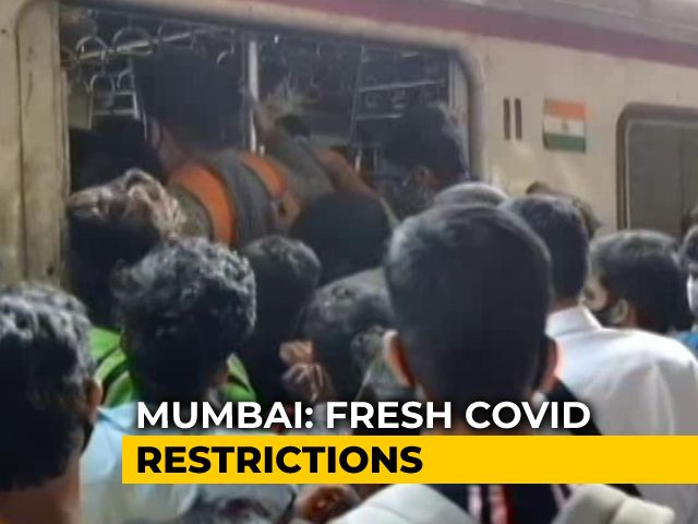 "Video : Fresh Curbs In Mumbai As Possibility Of ""Third Wave"" Looms Over Maharashtra"