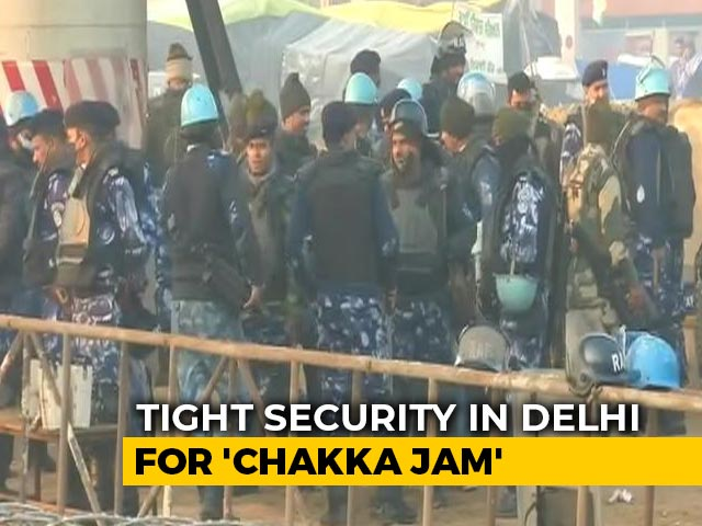Video : 50,000 Personnel, Drones, Water Cannons: Delhi On Stand-By For Chakka Jam