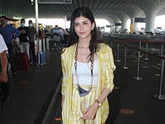 Sanjana Sanghi Takes Her Casual Pantsuit Into Spring With Sunny Florals And Stripes