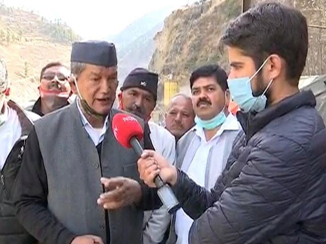 """Video : """"Not The Time For Political Debate"""": Ex-Chief Minister On Uttarakhand Tragedy"""