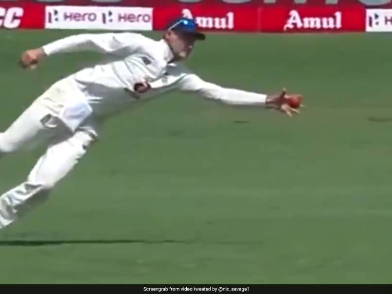 India vs England, 1st Test: Joe Root Takes One-Handed Stunner To Dismiss Ajinkya Rahane On Day 3. Watch