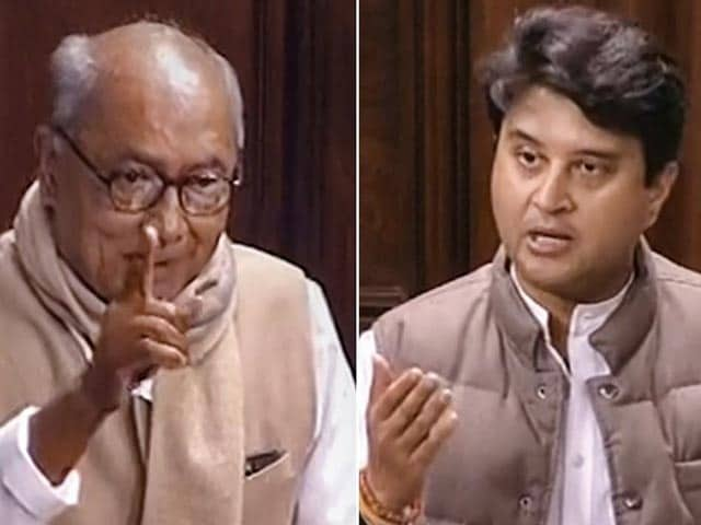 Video : Jyotiraditya Scindia, Digvijaya Singh's Amusing Exchange In Parliament