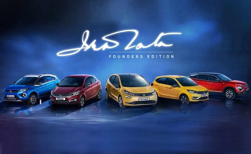 The Founders Edition of the Tiago, Tigor, Altroz, Nexon, & Harrier, are only for Tata Group employees