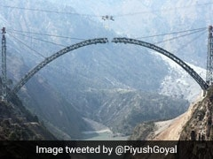 """Marvel In Making"": Piyush Goyal Updates On 'World's Highest' Rail Bridge"