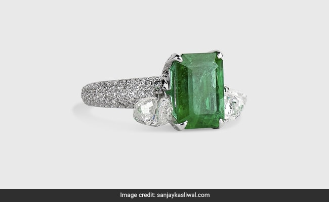 A ,500 Emerald Ring Worn With A Robe – Or Denims