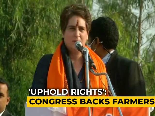 Video : PM Had Time To Visit Pakistan, China But Not Farmers: Priyanka Gandhi Vadra