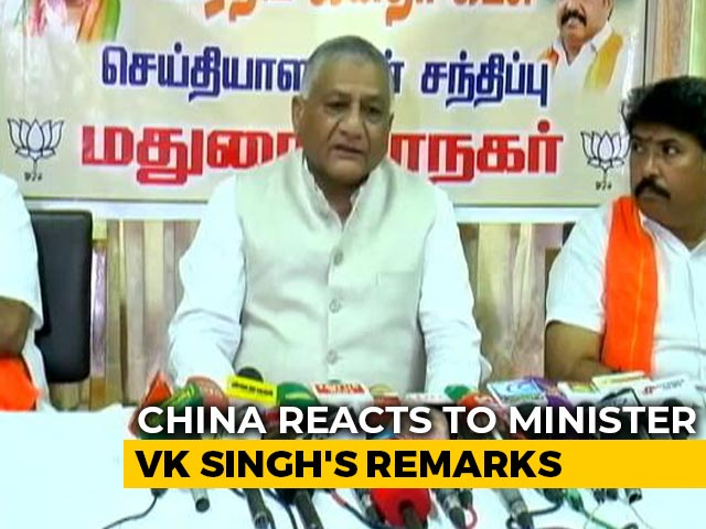 """Video : """"Unwitting Confession"""": China On Minister VK Singh's """"Transgressed"""" Take"""