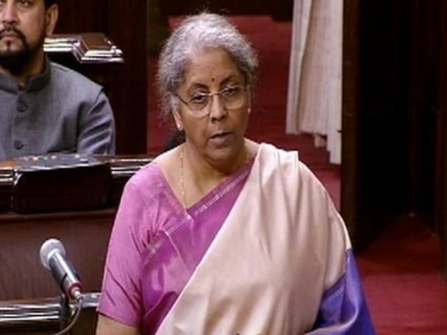 "Video : Free Food Grain, Cooking Gas"": Nirmala Sitharaman Rebuts Crony Slur"