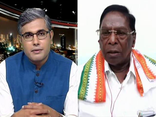 "Video : Watch: ""BJP Poaching MLAs, Threatening Them,"" Says Puducherry Chief Minister"