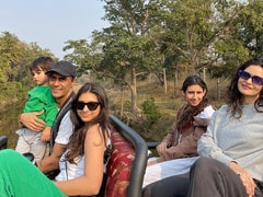Pics From Arjun Rampal's Trip To Satpura Tiger Reserve With Girlfriend Gabriella Demetriades, Son Arik And Daughters Mahikaa, Myra