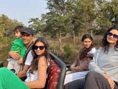 Pics From Arjun Rampal's Trip To Satpura Tiger Reserve With Girlfriend Gabriella Demetriades, Son Arik And Daughters Mahikaa, Myra