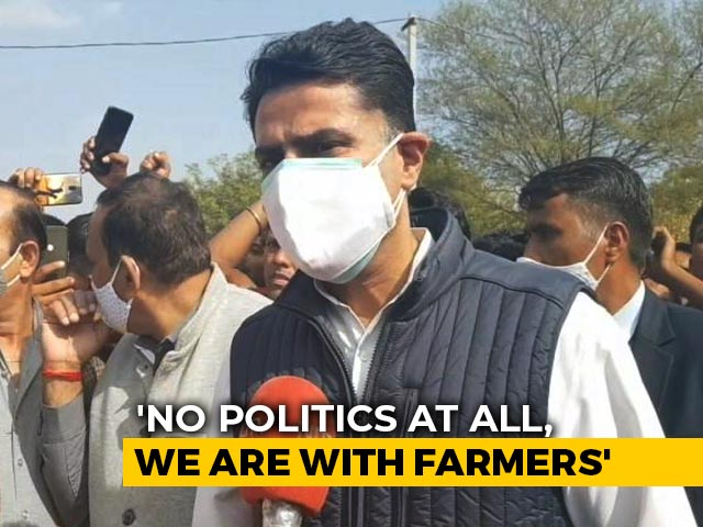 "Video : ""We Stand In Solidarity With Farmers"": Sachin Pilot"
