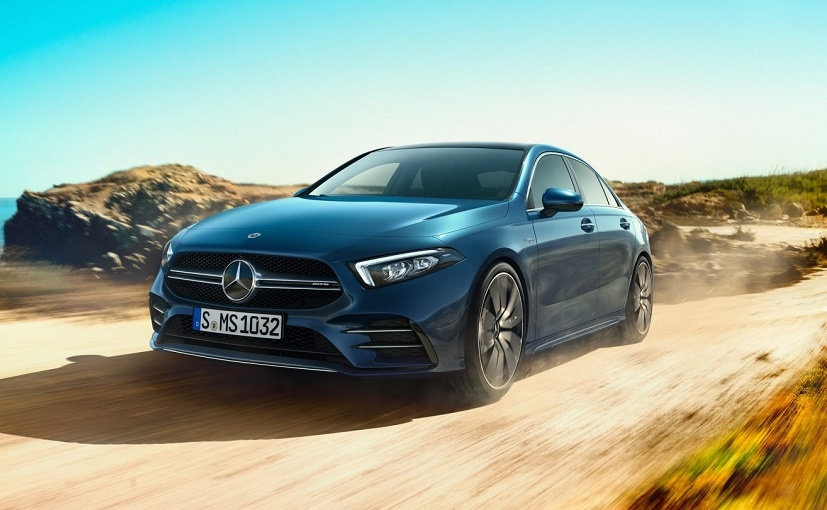 The Mercedes-AMG A 35 sedan was showcased at the 2020 Auto Expo