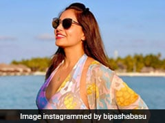 Bipasha Basu Does Beach Holiday Right In A Colourful Printed Swimsuit