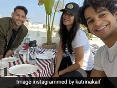 Katrina, Siddhant Take Turns To Pose With Ishaan's Coffee In Udaipur