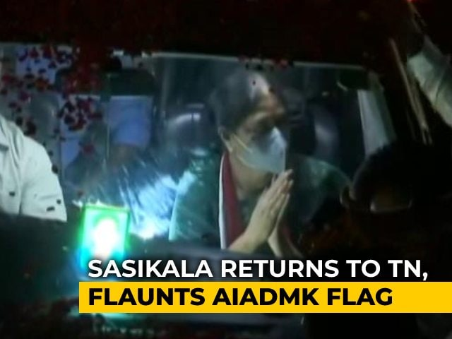 "Video : Celebration, Crowds Chant ""Chinamma"" As VK Sasikala Returns To Tamil Nadu"