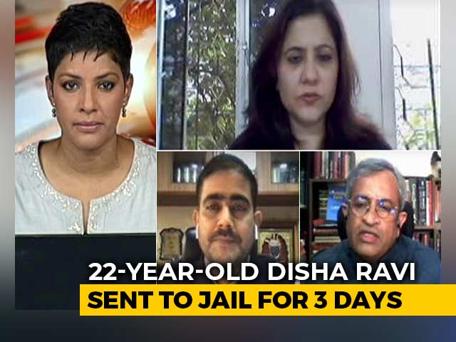 "Video : Delhi Court Sends Activist Disha Ravi To Jail For 3 Days In ""Toolkit"" Case"