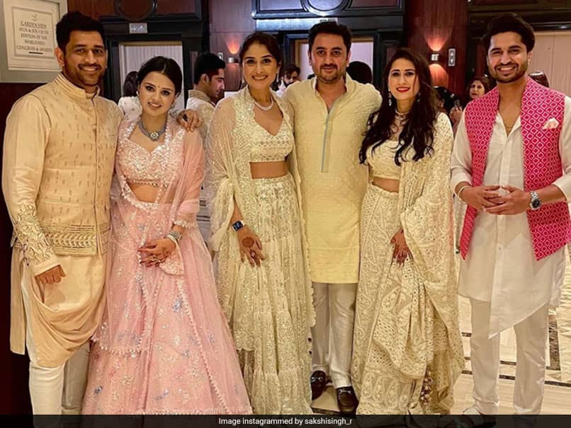 MS Dhoni, Wife Sakshi And Friends Dazzle In Ethnic Indian Wear. See Pic