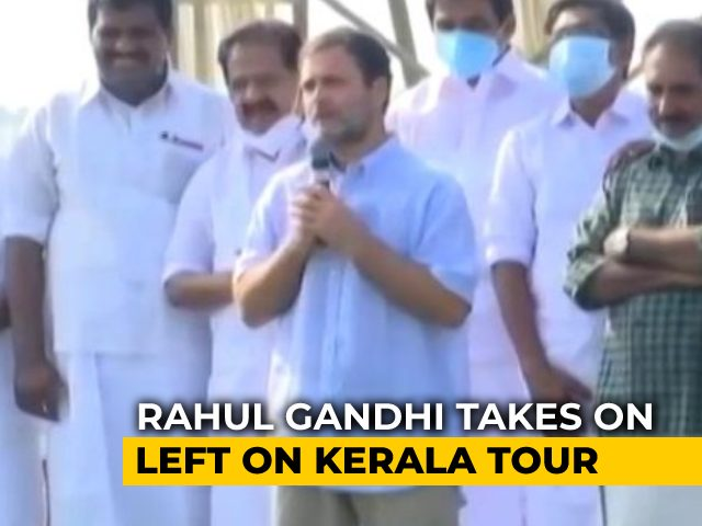 Video : Rahul Gandhi Tours Kerala Ahead Of Assembly Polls