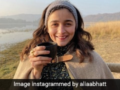 Alia Bhatt Sips on Morning Coffee At A Beach - Perfect Vacation!