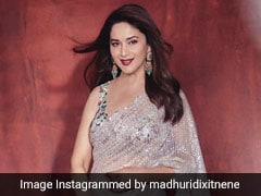 Madhuri Dixit Shines Bright In A Stunning Sequin Saree