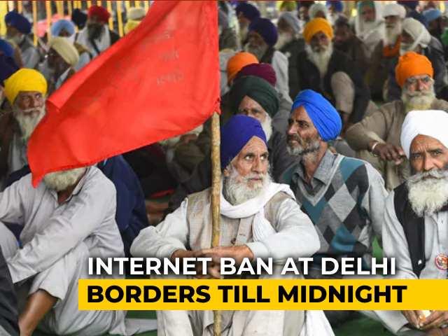 Video : Internet Suspended At Delhi's 3 Border Protest Sites Over <i>Chakka Jam</i> Call