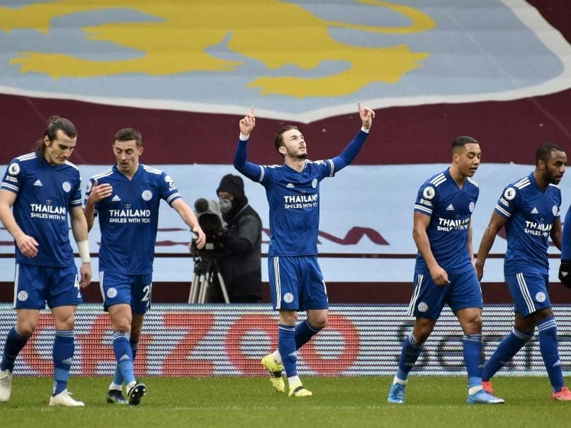 Premier League: Leicester City Beat Aston Villa 2-1 To Go Second