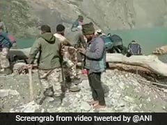ITBP, Disaster Response Team Remove Obstacles From Uttarakhand Lake