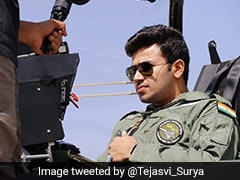 "BJP's Tejasvi Surya Taken For A Spin On Tejas Jet: ""Sharing More Pics"""