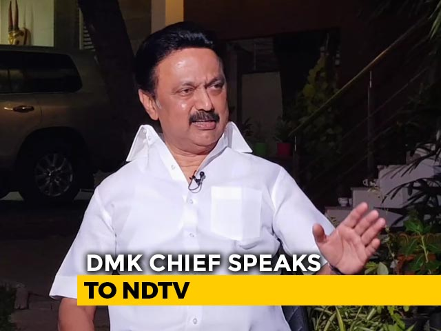 "Video : ""Does PM Support Corruption By Holding Tainted Hands?"" DMK's MK Stalin"