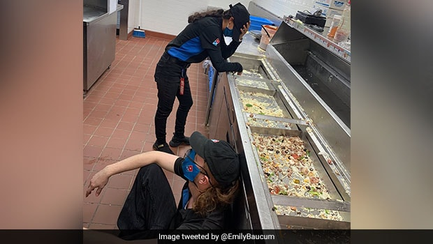 Picture Of Exhausted Domino's Workers Went Viral; See How Internet Is Reacting