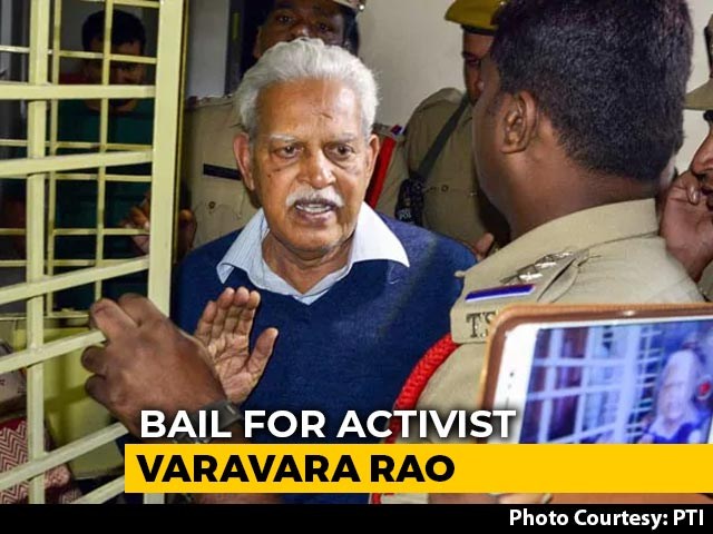 Video : Poet-Activist Varavara Rao, 81, Granted Bail In Bhima Koregaon Case