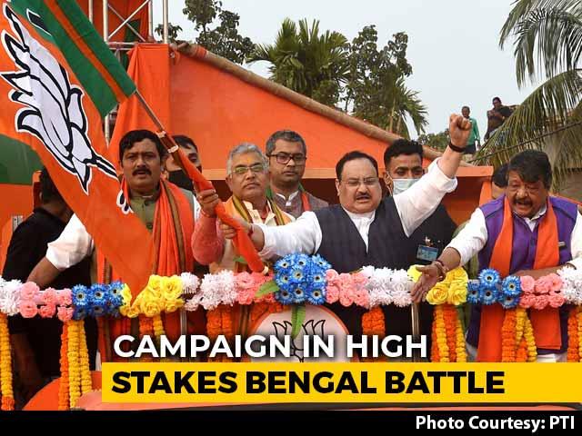 Video : BJP Kicks Off Rath Yatra In Bengal, TMC Holds Bike Rally In Nadia District