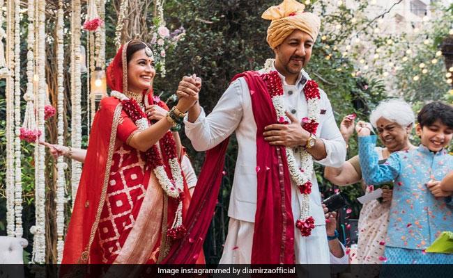 More Stunning Pics From Dia Mirza And Vaibhav Rekhi's Wedding Album