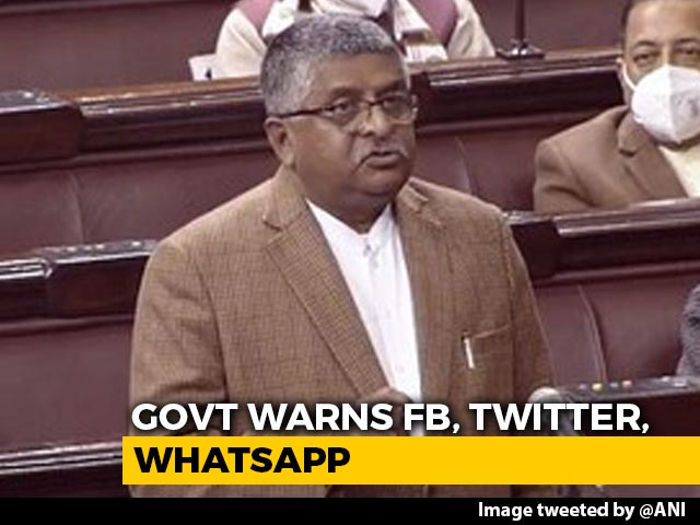 "Video : ""Tough Action If Social Media Misused"": Ravi Shankar Prasad Amid Twitter Row"