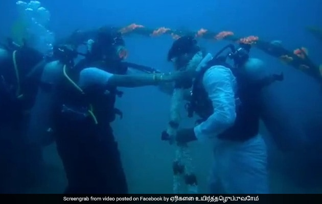 Taking The Plunge: Chennai Couple Gets Married Underwater
