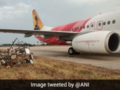 Air India Express Plane Hits Electric Pole On Landing In Andhra Airport